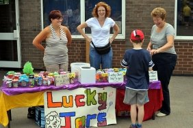 The Play School 'Lucky Jars' stall.