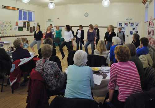 Dancing - Salsa, Belly, Irish at the South Milford WI.